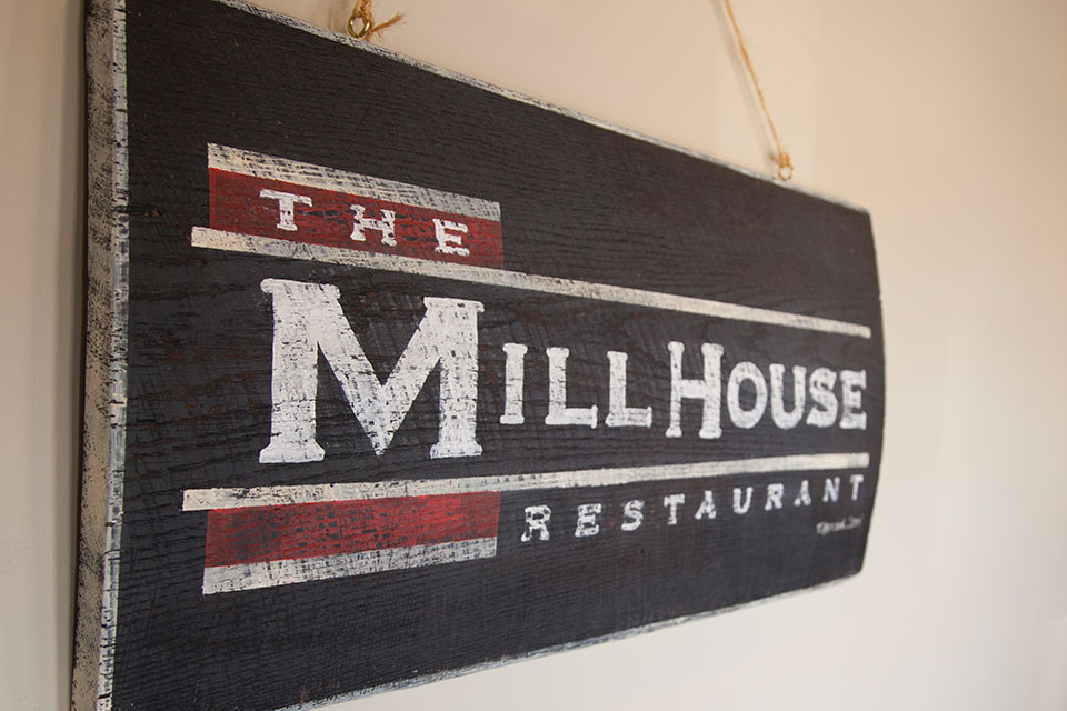 The Mill House Restaurant Sign